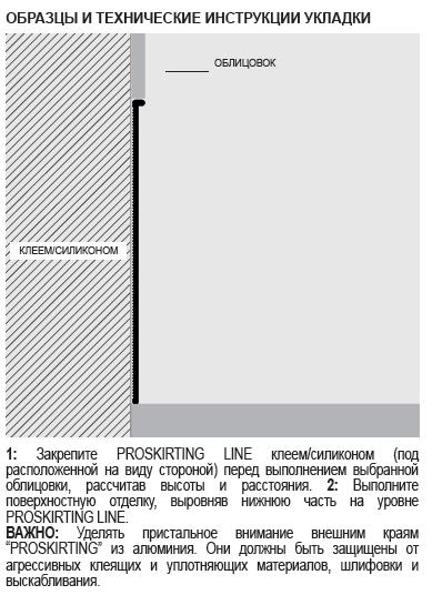 Алюминиевый плинтус Progress Profiles PROSKIRTING LINE