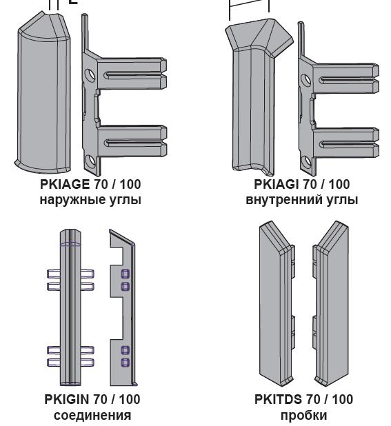Фурнитура Алюминиевый плинтус Progress Profiles PKISP 70/70T ECO
